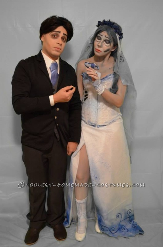 The Corpse Bride Couple Costume: Emily and Victor Van Dort - 1