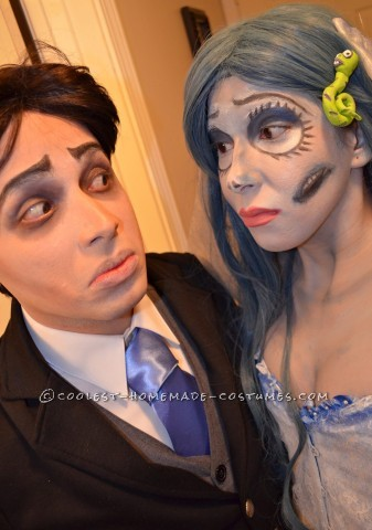 The Corpse Bride Couple Costume: Emily and Victor Van Dort
