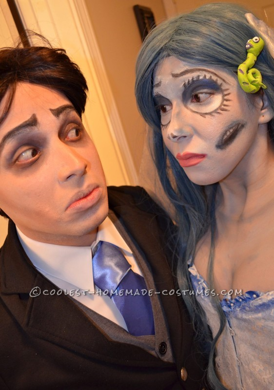 The Corpse Bride Couple Costume: Emily and Victor Van Dort - 2