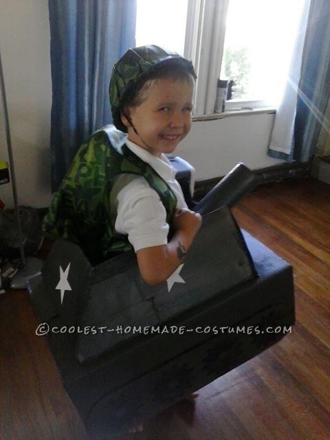 The Cutest Little Army Tank Halloween Costume