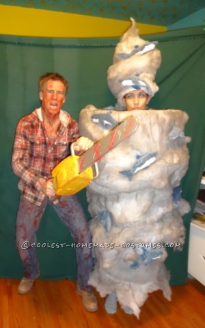 Fearless Fin Shepard Battles the Deadly Sharknado Couple Costume
