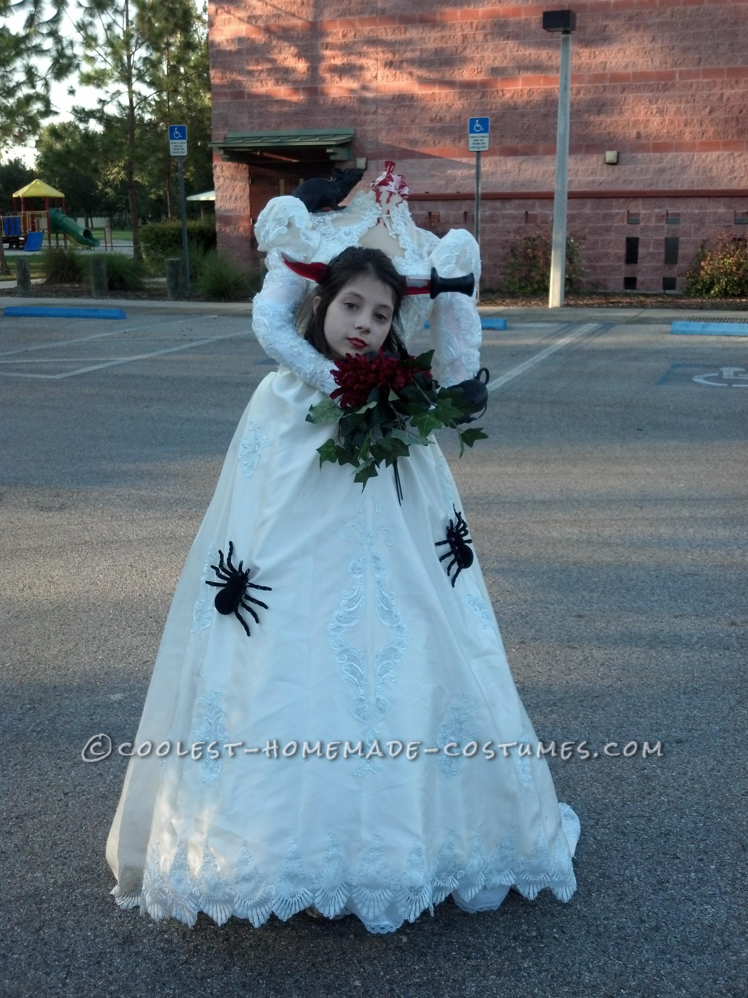 Cool Handmade Headless Bride Costume