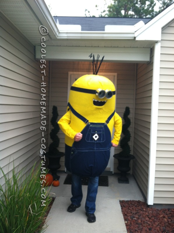 My Husband's Masterful Homemade Minion Costume