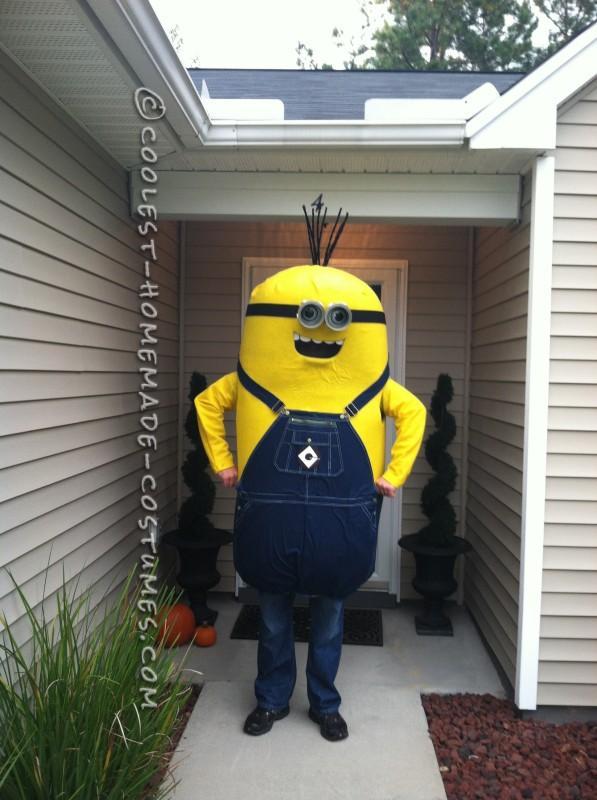 My Husband's Masterful Homemade Minion Costume - 2