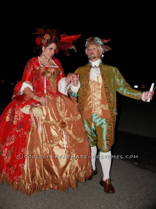 The Original 1% – Rococo Masquerade Couple Costume - 1