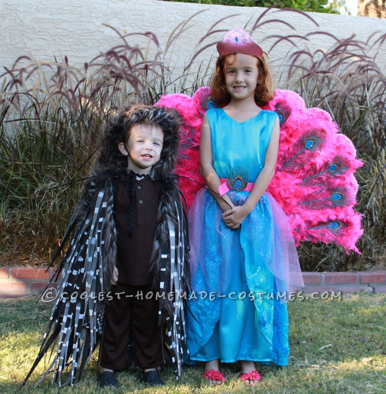 Barbie The Island Princess Doll Costume and a Prickly Porcupine Costume - 1