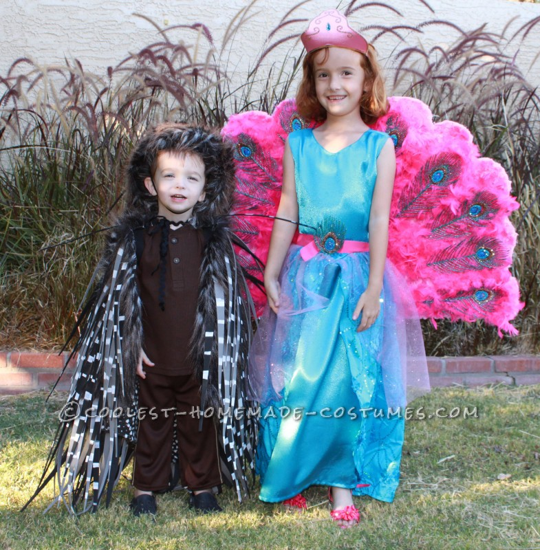 Barbie The Island Princess Doll Costume and a Prickly Porcupine Costume - 2