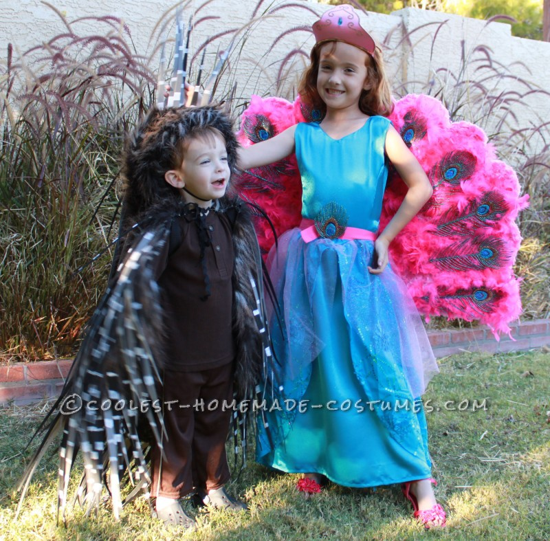Barbie The Island Princess Doll Costume and a Prickly Porcupine Costume - 3