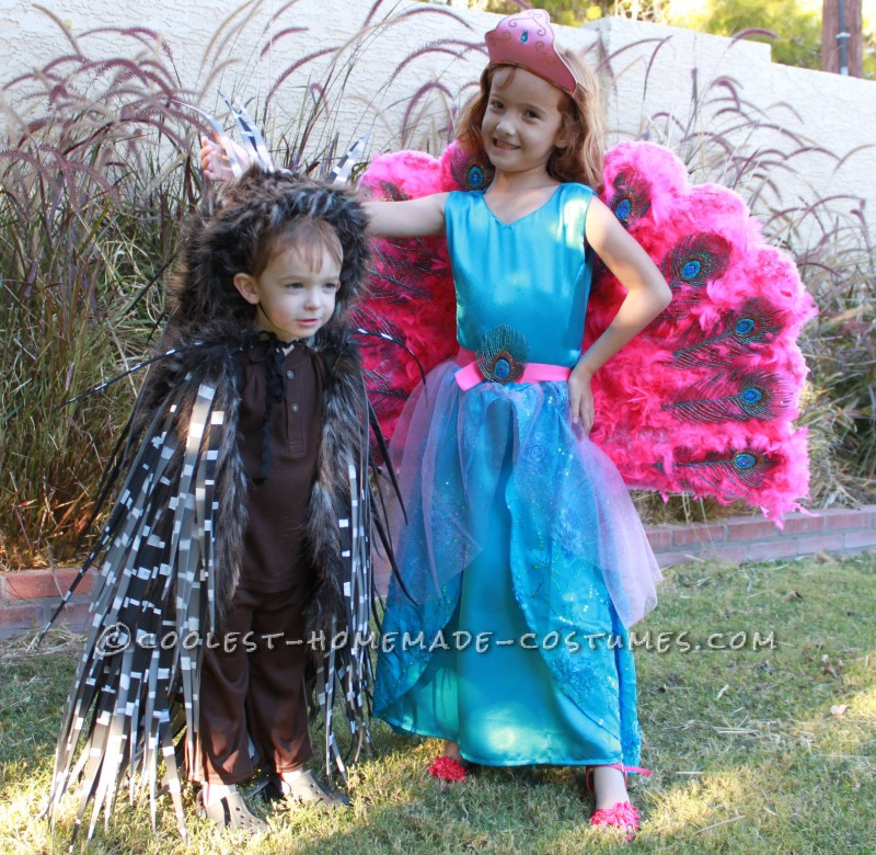 Barbie The Island Princess Doll Costume and a Prickly Porcupine Costume - 4