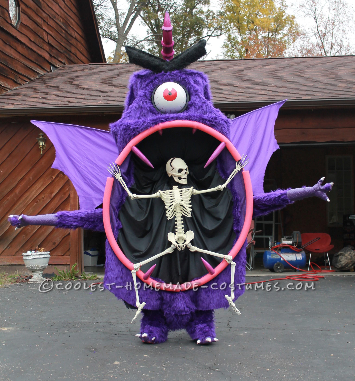 Coolest Homemade Purple People Eater Costume