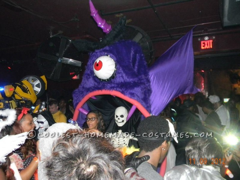 Coolest Homemade Purple People Eater Costume