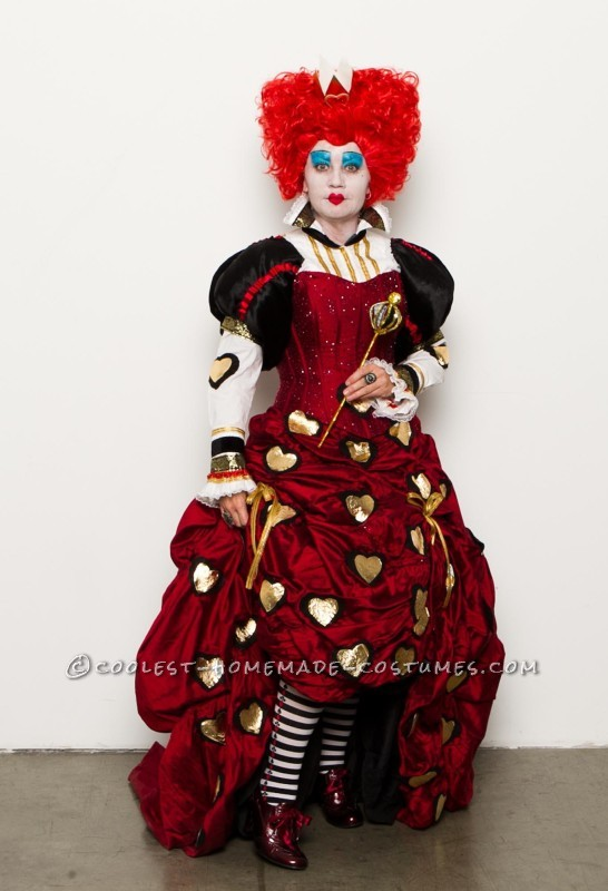 Amazing Handmade Red Queen Costume