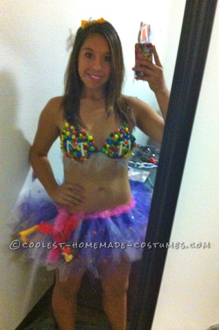 Sexy M&Ms Girl Halloween Costume