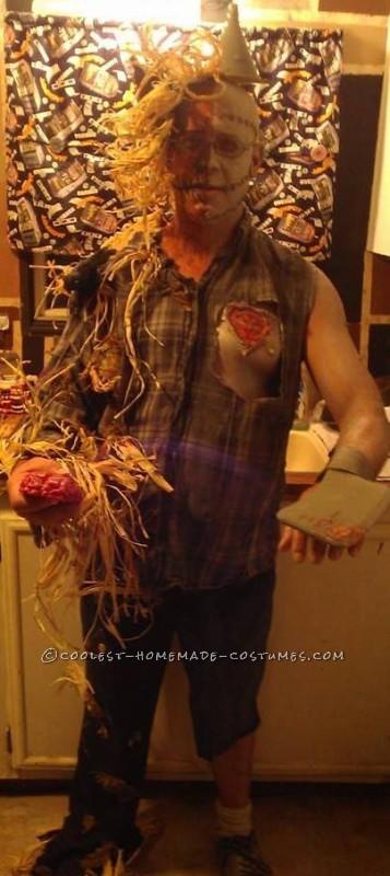Half Tin Man Half Scarecrow Costume - 1