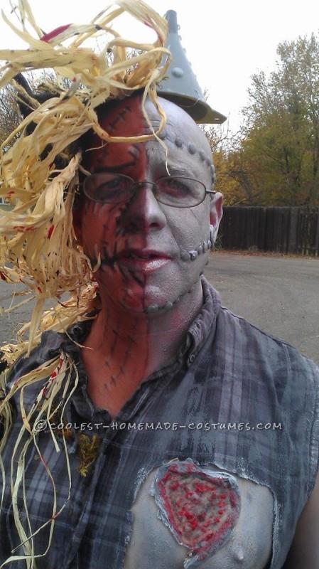 Half Tin Man Half Scarecrow Costume - 7