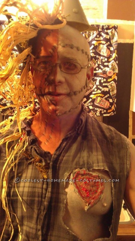Half Tin Man Half Scarecrow Costume - 8