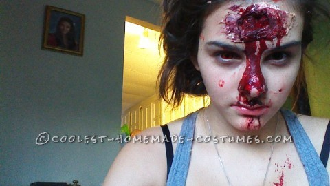 Scary Zombie Makeup and Costume