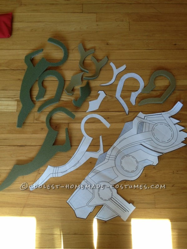 Template and some of the foam cut outs