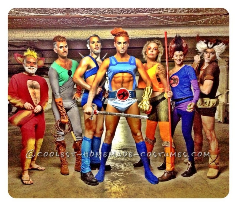 Awesome and Sexy Homemade ThunderCats Group Costume