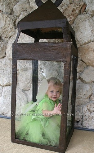 Pretty Tinkerbell in a Lantern Handmade Toddler Girl Costume - 1