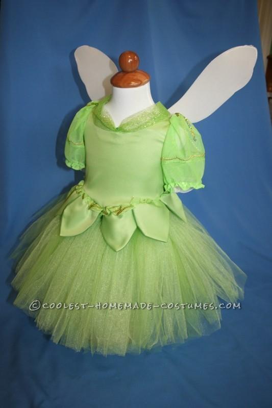 Pretty Tinkerbell in a Lantern Handmade Toddler Girl Costume