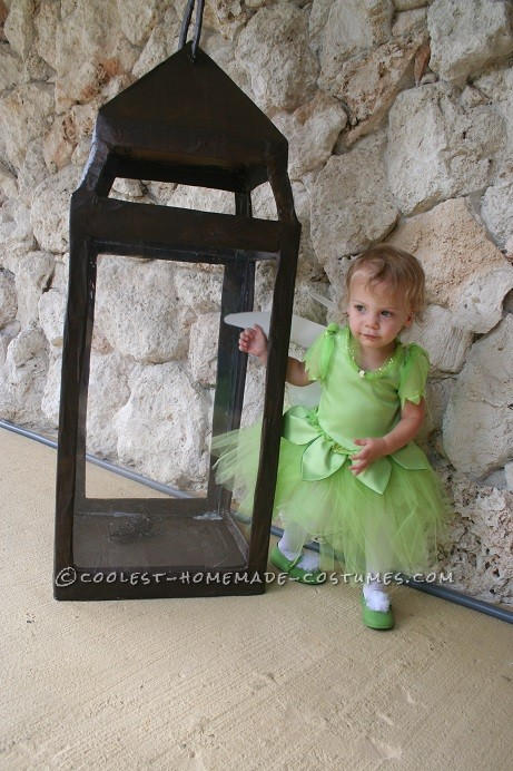 Pretty Tinkerbell in a Lantern Handmade Toddler Girl Costume