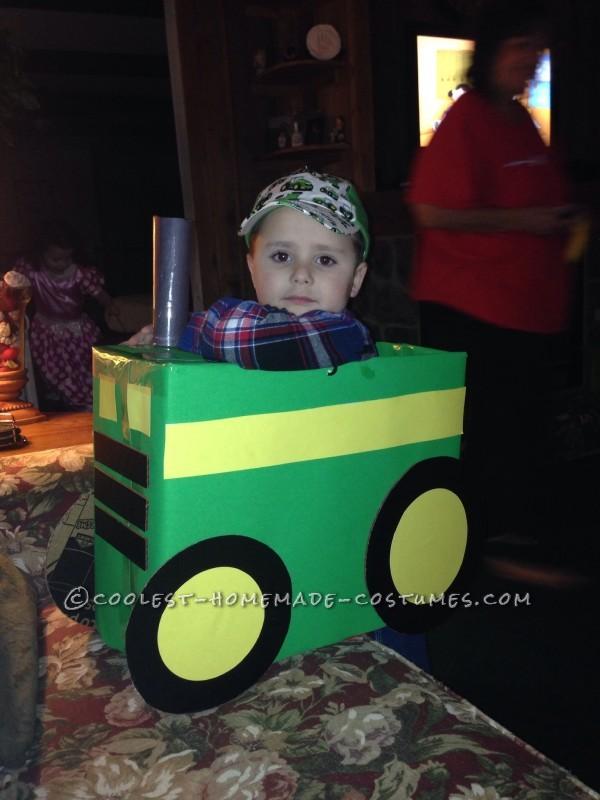 Cool Tractor Farmer Cardboard Box Costume - 2