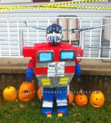 Cardboard Box Optimus Prime Transformer Costume