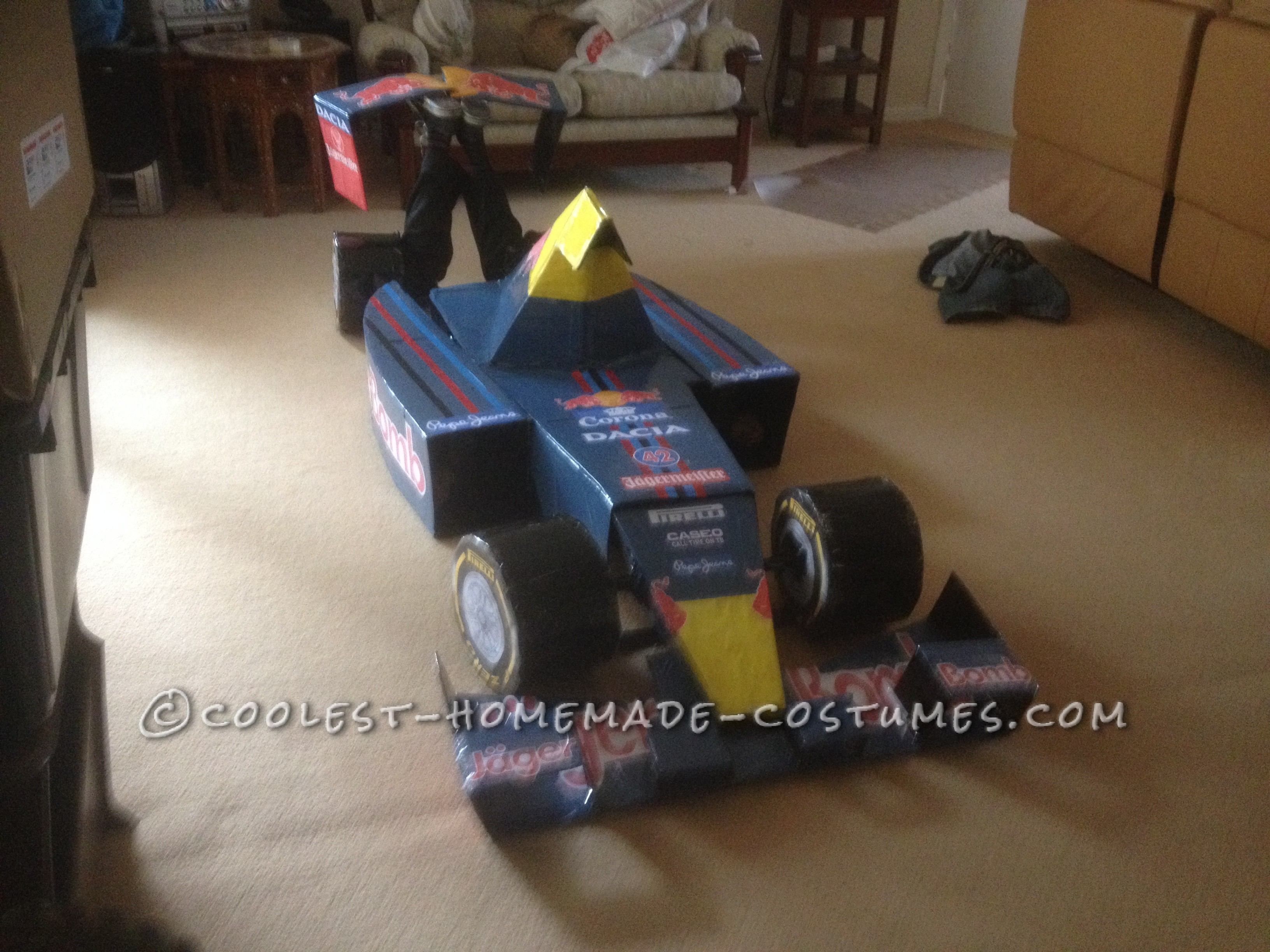 Transforming Red Bull RB8 Formula One Car Costume (And an Entire Pit Crew Too!)