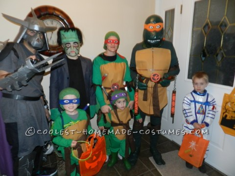 Turtley Awesome Ninja Turtles Halloween Family Costume