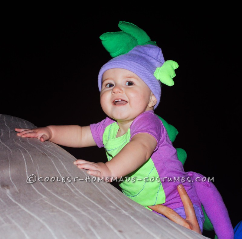 Front view of Baby Spike costume