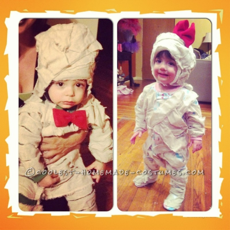 Two Little Mummy Twin Costumes