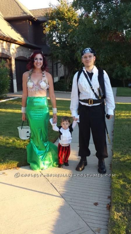 Ultra Feminine and Fun Homemade Mermaid Costume