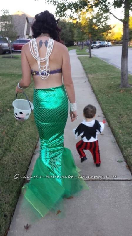 Ultra Feminine and Fun Homemade Mermaid Costume - 3