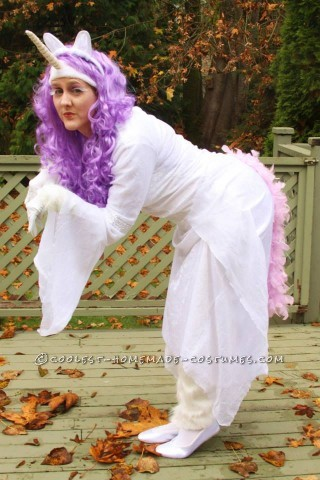 Beautiful Homemade Unicorn Costume