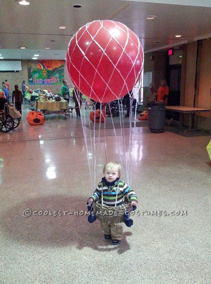 Cool Hot Air Balloon Halloween Costume for a Toddler