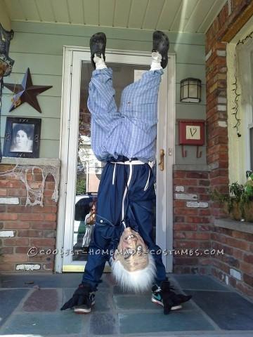 Upside Down Old Man Illusion Costume