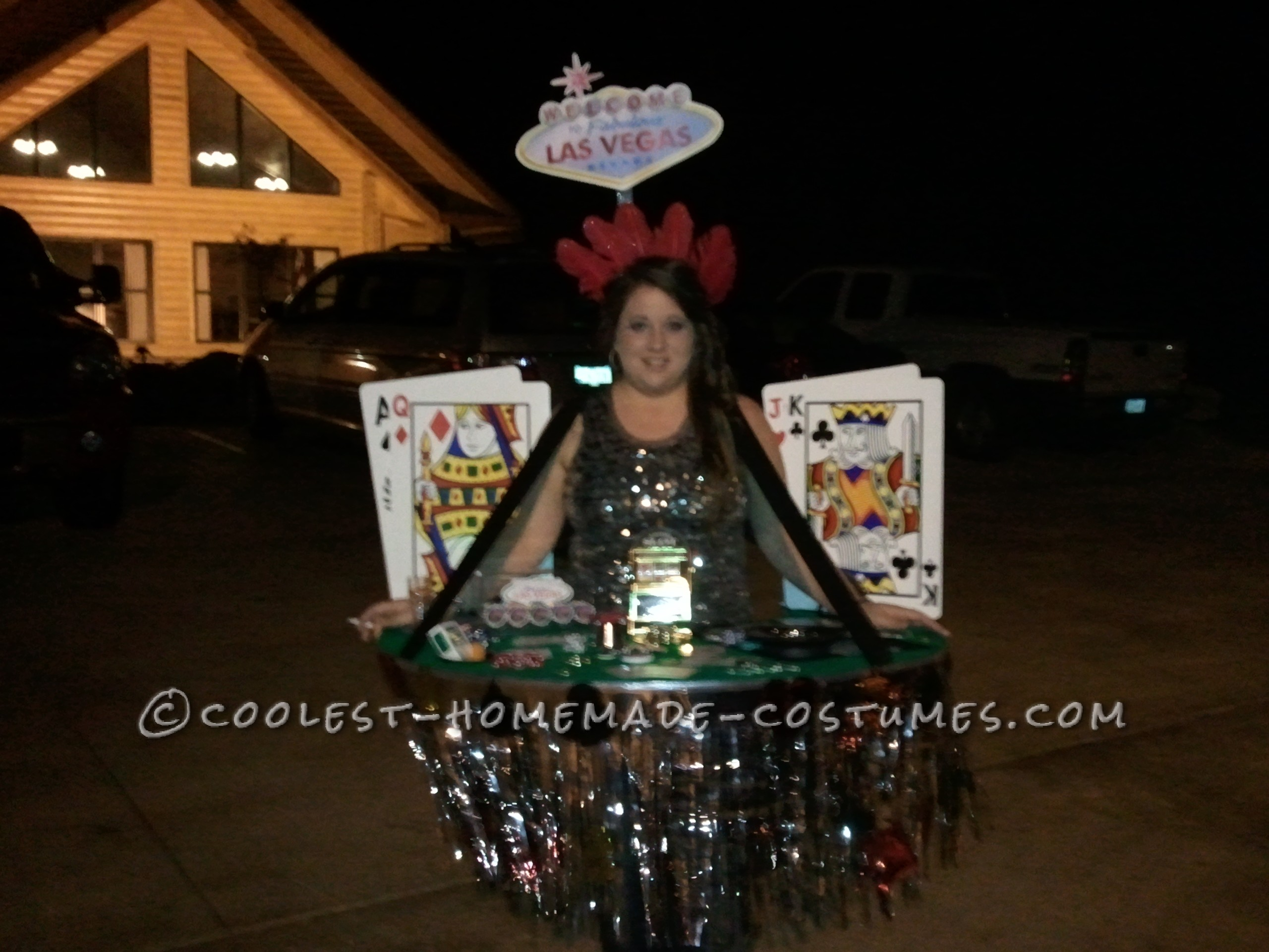 Viva Las Vegas Casino Dealer Costume