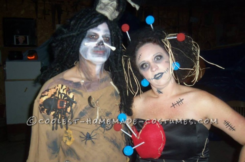 Voodoo Doll and Witch Doctor Couple Halloween Costume - 1