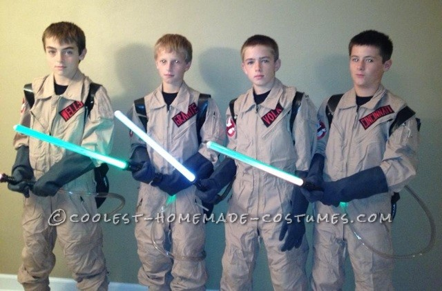 Best Homemade Ghost Busters Group Halloween Costume