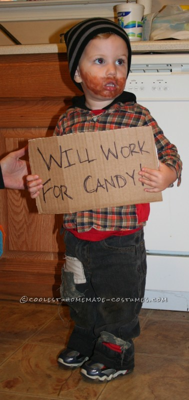 Funny and Easy Toddler Costume Idea: Will Work for Candy!