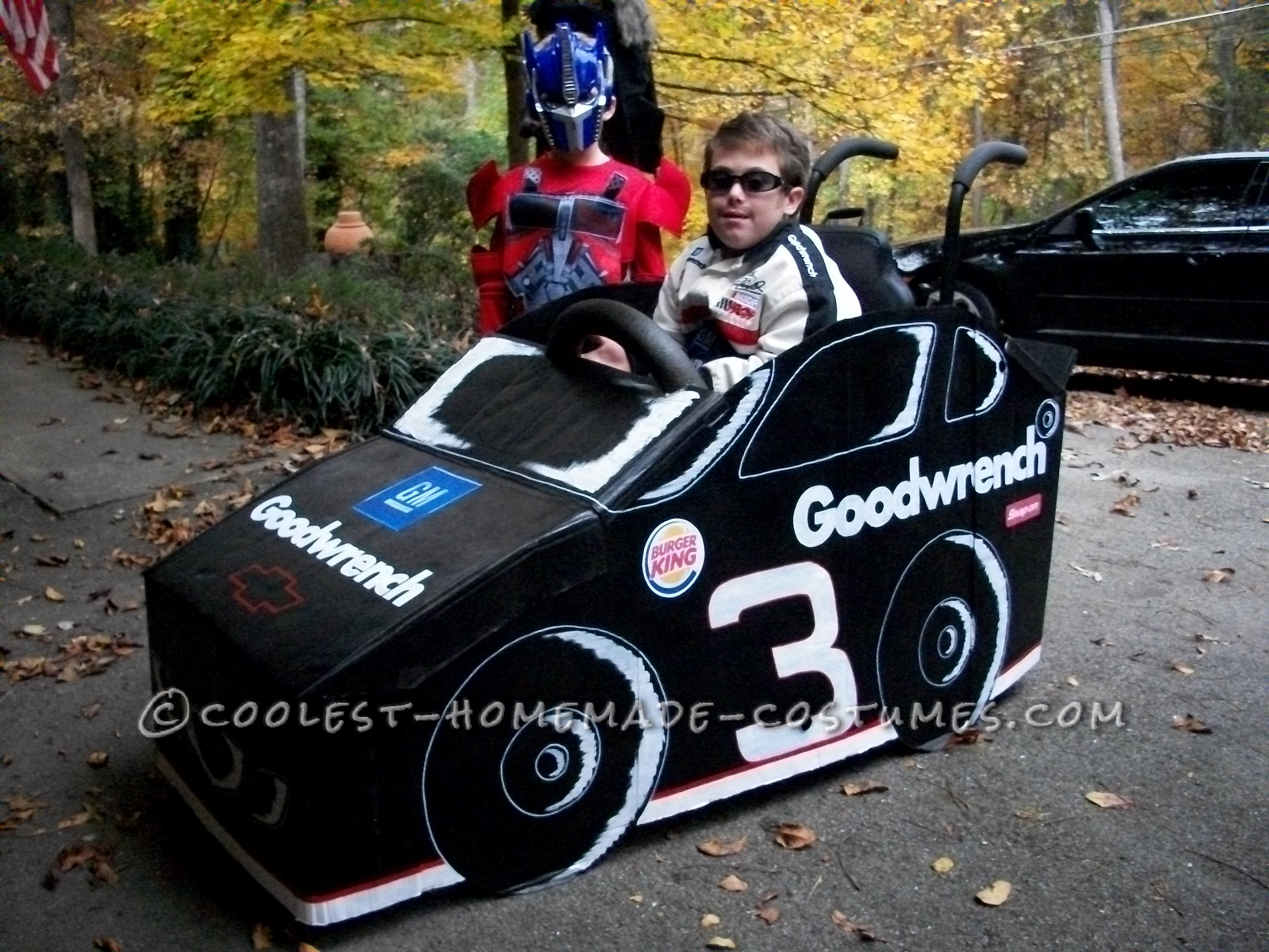 """""""The Earnhardt #3"""" Wheelchair Costume for 7 Year Old William Joel"""