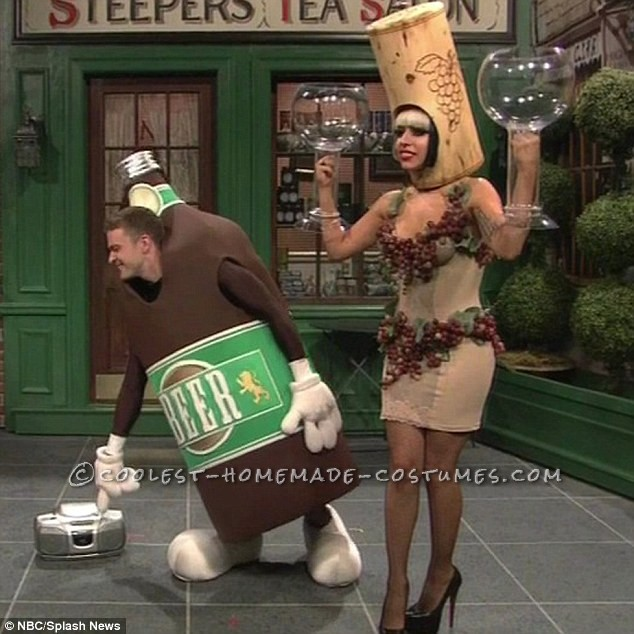 Wine Bottle or Lady Gaga Liquorville on SNL Costume for a Woman
