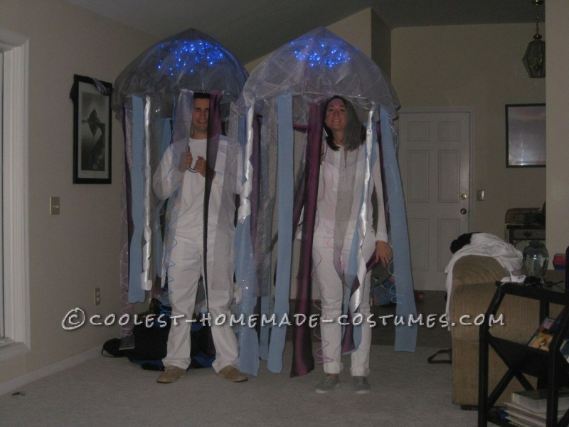 Prize-Winning Homemade Glowing Jellyfish Costumes