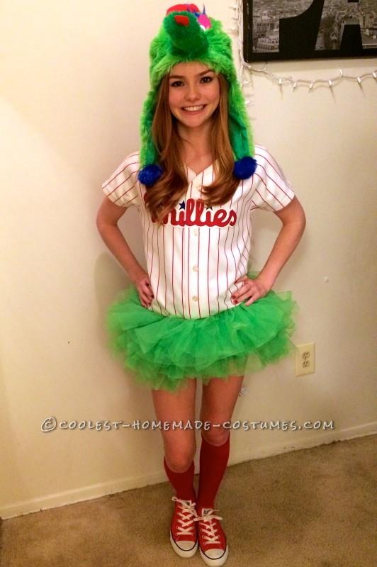 Woman's Phillie Phanatic Costume