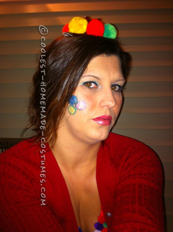 Homemade Women's Gum Ball Machine Costume (Costs Less Than $20 to Create!)