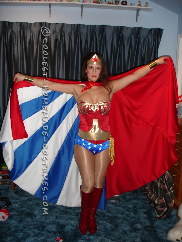 Beautiful Homemade Wonder Woman Costume