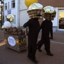 Yummy Chocolate Ferrero Rocher Candy Head Group Costume Idea