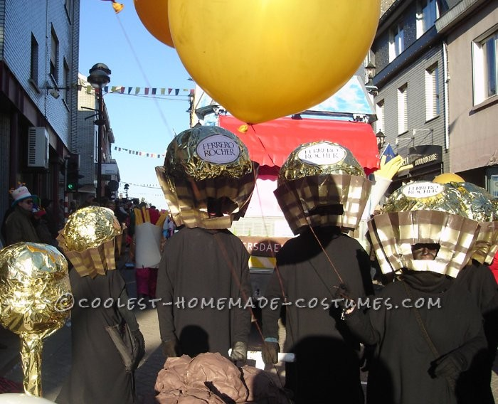 Yummy Chocolate Ferrero Rocher Candy Head Group Costume Idea - 2