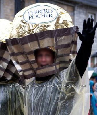 Yummy Chocolate Ferrero Rocher Candy Head Group Costume Idea - 5